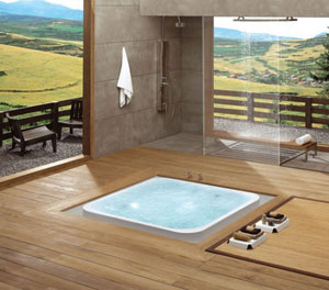 в  Японии  ванна-офуро